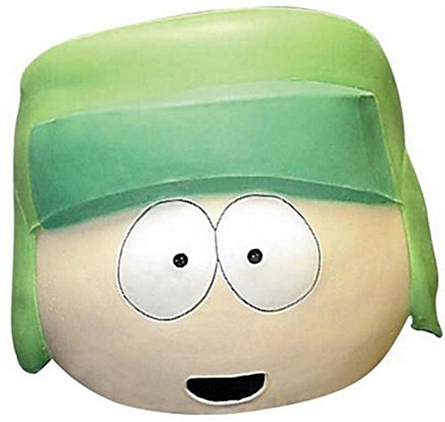 South Park Kyle Broflovski Overhead Latex Mask Costume Accessory Beige/Green -