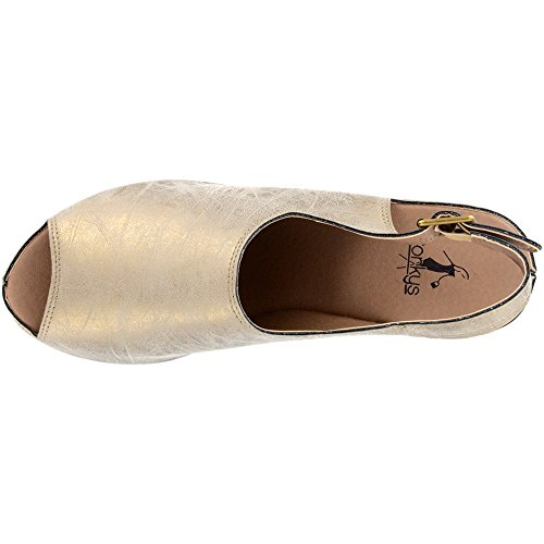 Corkys College Womens Sandal Gold 4lwNq3u