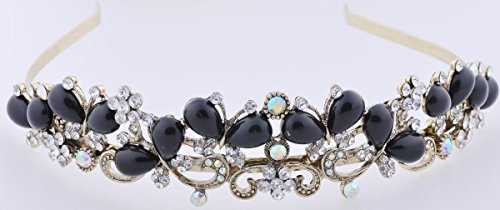 Rhinestone Crystal Tiara Crown Wedding Bridal Headband Headwear -