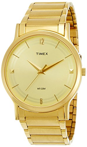 Timex Classics Analog Gold Dial Men #39;s Watch   TI000R40700