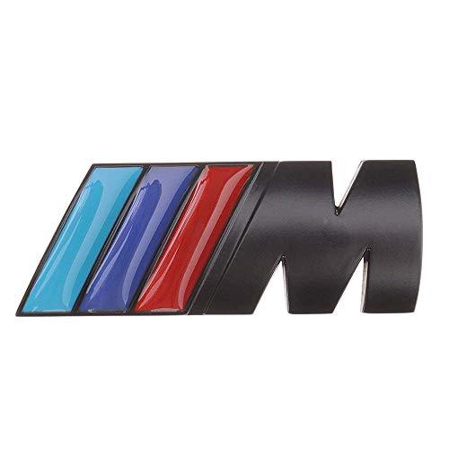 M Emblem Badge Sticker Motorsport Power, Rear Emblem Car Decal Logo Sticker for All Models BMW 1 3 5 7 Series E30 E36 E46 E34 E39 E60 E65 E38 X1 X3 X5 X6 Z3 Z4 (Black)
