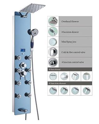 """Blue Ocean 52"""" Stainless Steel SPV878392H Shower Panel"""