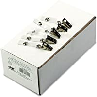 Badge Clip with Mylar Strap, Silver, 100/Box, Sold as 1 Box