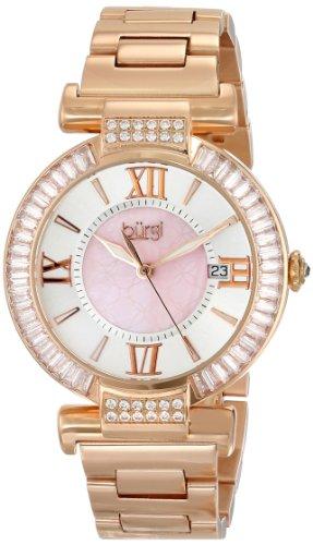 Burgi Women's BUR082RG Analog Display Swiss Quartz Rose Gold Watch