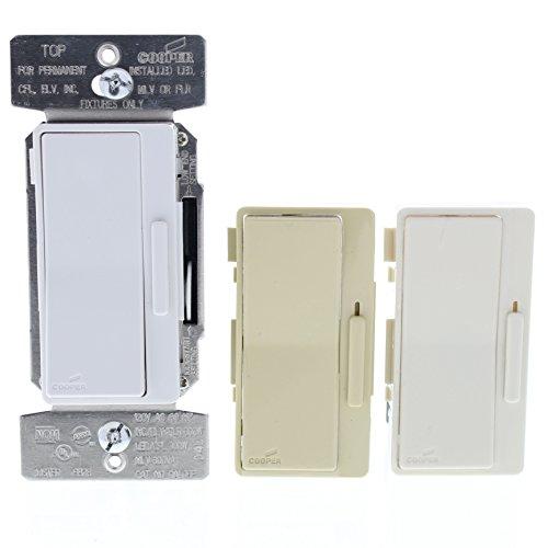 Cooper Controls DAL06P-C2 Decorator Dimmer 120V - W, V, LA (Cooper Rocker Decorator Switch)