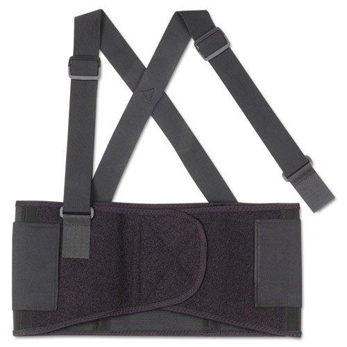 Economy Elastic Back Support Belt - Ergodyne ProFlex 1650 Economy Elastic Back Support, Large, Black