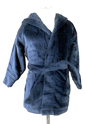 elour Hooded Cover-Up - Navy-XS (Age 2-3) ()