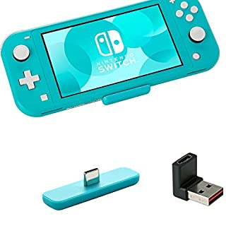 GuliKit Route Air Bluetooth Adapter for Nintendo Switch&Lite/PS4/PC,Audio Transmitter with aptX Low Latency Dual Stream Wireless Bluetooth Compatible with Headphone AirPods Bluetooth Speaker-Blue
