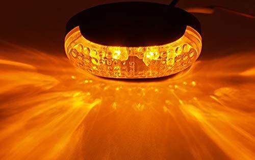 lampadine gialle NUZAMAS Set di 10 luci laterali a LED impermeabilit/à IP68 4 LED 12V//24V indicatore di posizione adatte per camion luci LED anteriori e posteriori arancioni barche