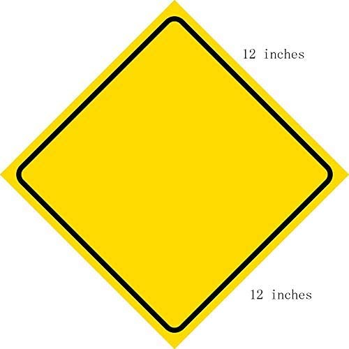 YelenaSign Metall-Warnschild 30,5 x 30,5 cm Autoaufkleber Warning K/änguru Zone Australien