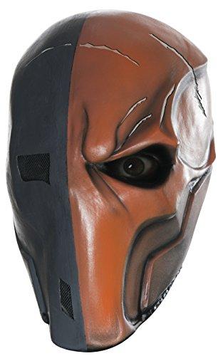 Rubie's Costume Men's Arkham City Death Stroke 3/4 Vinyl Mask, Multi, One Size