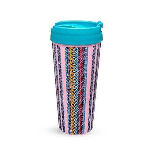 Vera Bradley Women's Thermal Travel Mug, Indigo Stripe, 16 O