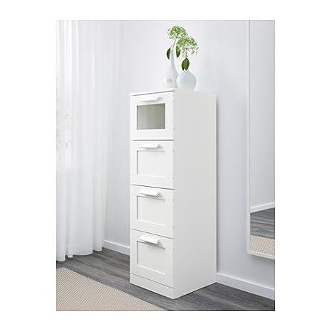 Ikea - Cajonera de 4 cajones, Cristal Esmerilado, Color ...