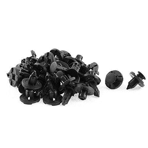 uxcell 30 Pcs Black Plastic Rivet Bumper Lining Clips for Nissan Teana Tiida