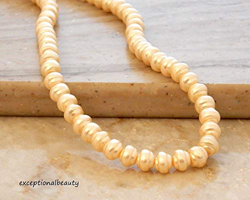 - 40 Exquisite Cream Cultura Preciosa Czech Pearls 6mm Crystal Pearl Baroque Beads