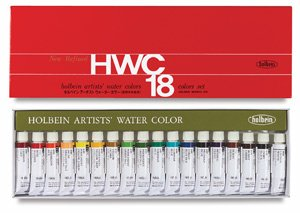 (Holbein Artist's Watercolors Set of 18 5ml Tubes W403 )