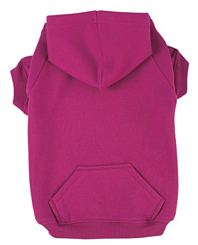 "Zack & Zoey Basic Hoodie for Dogs, 8"" X-Small, Raspberry Sorbet"