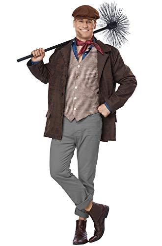 California Costumes Size Chimney Sweep-Adult Plus Men Costume, Brown