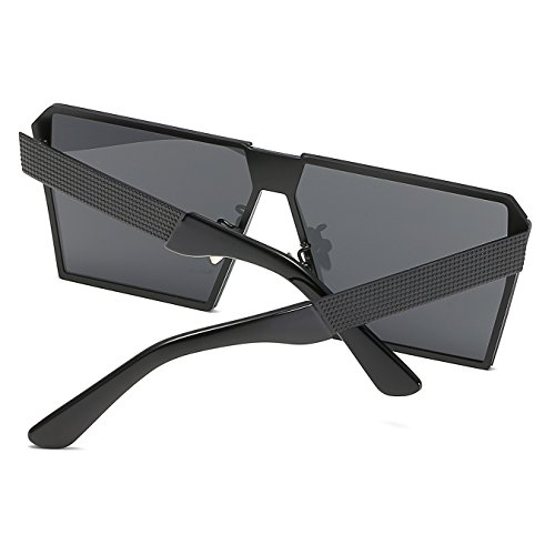 CVOO Silver Oversized Flat Frame Transparent Sunglasses Sunglasses Metal Square Top Frame rrOFq1