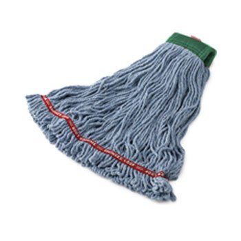 Rubbermaid Commercial Swinger Loop Shrinkless Mop Heads, Cotton/Synthetic, Blue, Medium - six wet mop heads per case. by Rubbermaid Commercial