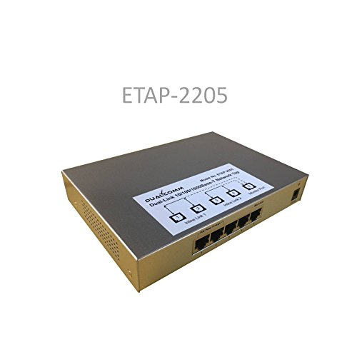 Dualcomm ETAP-2205 Dual-Link 10/100/1000Base-T Ethernet Network Tap