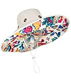 Womens Girls Large Brim Sunhat Summer Sun Bucket Hat Reversible Packable Travel Beach Hat