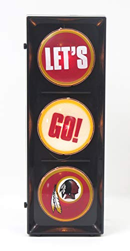 Washington Redskins, Flashing Let's go Light sequential Flashing Electric Light, Free Stand or Wall mountable, Size 5.88
