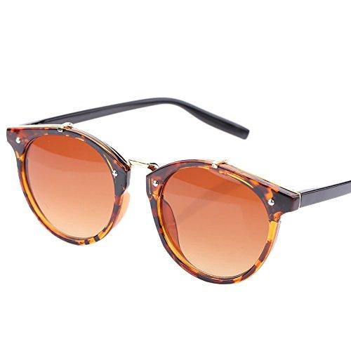 de de Frame Gato Alomejor Hombre Gradient Lens Sol amp; de de Black Gafas Sol amp; Grey Grey Gafas Lens con Redondas y Marco Mujer Ojo UV400 para Frame THPHYqwz