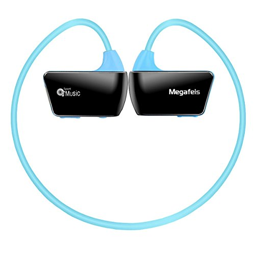Megafeis E30 8GB Sports MP3 Wearable Wireless Headset MP3 Player (blue) for Running Jogging Walking Gym