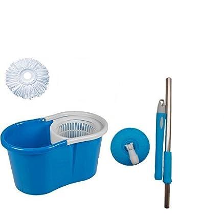 GTC Easy Magic Floor Mop 360° Bucket PVC Mop 1 Heads Microfiber Spin  Spinning Rotating