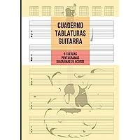 Cuaderno Tablatura Guitarra: Guitarra 6 Cuerdas, 5 Tablaturas