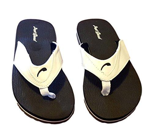 ... Js Menns Sommer Flip Flop Sandaler-size 13-15 Svart / Hvit ...
