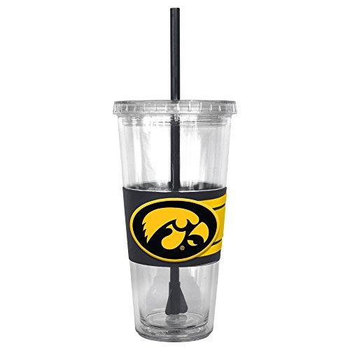 NCAA Iowa Hawkeyes Hype Straw Tumbler, (Iowa Hawkeyes Ncaa Beverage)