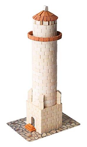 Lighthouse Pottery - Wise Elk Toy Lighthouse construction set, real plaster bricks, gypsum reusable building kit, 500 pcs, educational gift