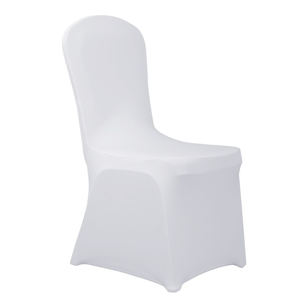 Haorui Spandex Chair Covers Dining Room Banquet Wedding Party (4 pcs, White)
