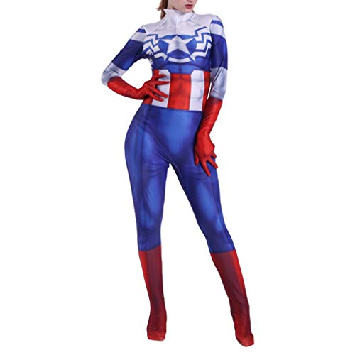 NDHSH Capitán América Cosplay Disfraces Disfraz niño Mujer Mono ...