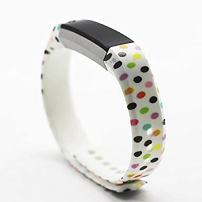honecumi Bands Replacement for Gar min Vivoactive HR Wristband Silicone Watch Band Strap Bracelet for Men & Women Colorful Pattern Watch Wrist Band Adjustable Metal Clasp Loop One Size