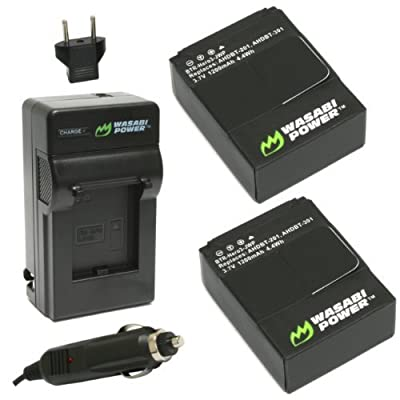 Wasabi Power Battery and Charger for GoPro HD HERO3, HERO3+ and GoPro AHDBT-201, AHDBT-301, AHDBT-302 by Wasabi Power