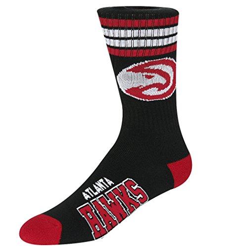 For Bare Feet NBA 4 Stripe Deuce Crew Men Socks – DiZiSports Store