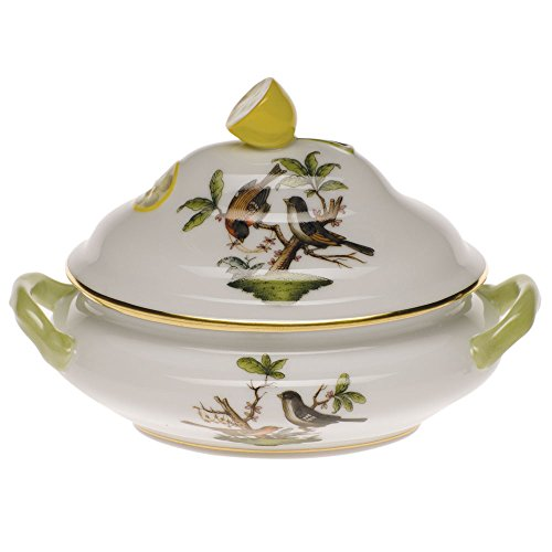 Herend Rothschild Bird Mini Tureen With Lemon