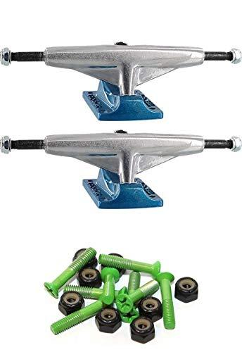 Tensor Trucks エッチングアルミニウム 5.25インチ スケートボードトラック 1インチ グリーン取付金具付き   B07K45SV7S