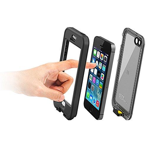 LifeProof NÜÜD SERIES Waterproof Case for iPhone 5/5s/SE - Retail Packaging - BLACK (BLACK/SMOKE) by LifeProof (Image #9)