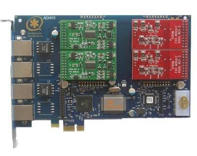 Aex410p 2fxo and 2fxs Trixbox,aex410 PCI Express Asterisk Card ()