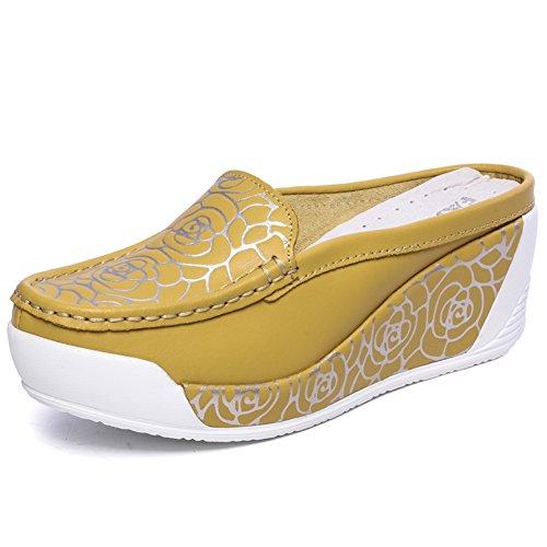 Verano pendiente con zapatillas baotou fresco/Zapatos perezoso perezoso de la manera de la manera F