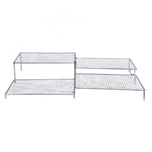 Staedter Fanned Cooling Grill With Feet, Grey, 54 Cm Length X 55 Cm Width X 10.5 Cm Height