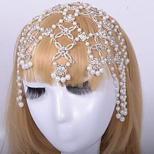 FLOW ZIG Alloy Forehead Jewelry With Imitation Pearl/Rhinestone Wedding/Party Headpiece