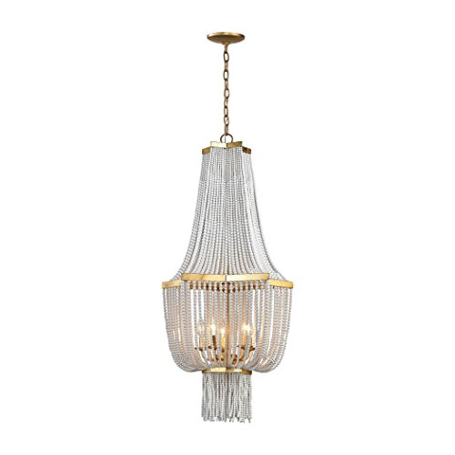 Manhattan Collection Chaumont 5 Light Chandelier In Antique Gold Leaf