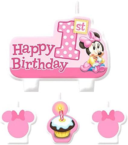 Amazon.com: American Greetings Minnie Mouse 1er Cumpleaños ...
