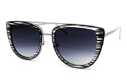 O2 Eyewear 7232 Premium Oversize Womens Mens Mirror Funky Fashion Candy Sunglasses (METAL ARM, - Sunglasses Zebra