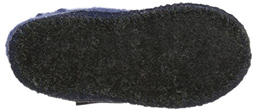 Haflinger Hüttenschuh Paul - Zapatillas de casa Unisex Niños Azul (Royal)